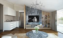 BWorks  – TD HOUSE: modern tarz Oturma Odası