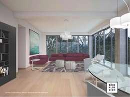 Böker Design Studio: akdeniz tarzı tarz Oturma Odası