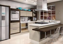 Cocina de estilo  por Fabrik Ambientes Planejados