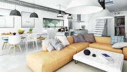 modern Living room by Majchrzak Pracownia Projektowa