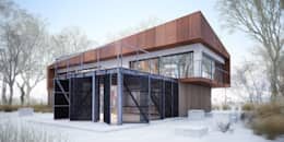 Projekty domów - House x07: styl nowoczesne, w kategorii Domy zaprojektowany przez Majchrzak Pracownia Projektowa