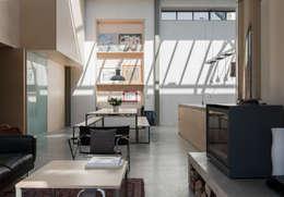 The Workshop: modern Dining room by Henning Stummel Architects Ltd