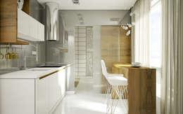 Cocinas de estilo minimalista por NatusDESIGN Pracownia Architektury Wnętrz