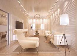 Salas de estilo moderno por Студия интерьерного дизайна happy.design