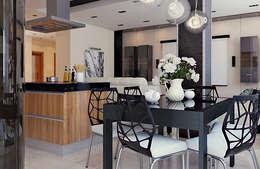 Projekty,  Kuchnia zaprojektowane przez студия дизайна 'Крендель'