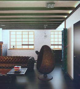 industrial Living room by Valeria Ganina