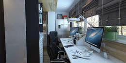 Брутальная однушка: Рабочие кабинеты в . Автор – D-SAV     ДИЗАЙН ИНТЕРЬЕРА И АРХИТЕКТУРА