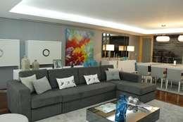 غرفة المعيشة تنفيذ HC Interiores