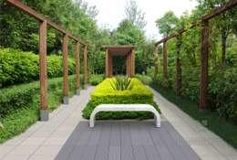 Betonowe ławki.: styl , w kategorii Ogród zaprojektowany przez Modern Line