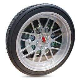 Horloge design pneu de voiture: Murs & Sols de style de style Industriel par IdéeCadeau.fr