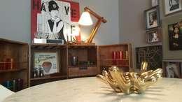Salle à manger de style de style Rustique par Lucio Nocito Arquitetura e Design de Interiores