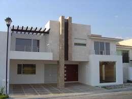 fachada casas de estilo moderno por santiago pardo arquitecto - Fotos De Fachadas De Casas