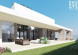 CASA FUNDADORES | Playa del Carmen Q. Roo: Jardines de estilo minimalista por EMERGENTE | Arquitectura
