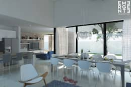 CASA FUNDADORES   Playa del Carmen Q. Roo: Cocinas de estilo minimalista por EMERGENTE   Arquitectura