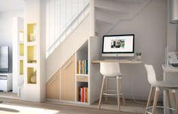 Pasillos y recibidores de estilo  por Concept d'intérieur