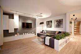 PRZESTRONNY APARTAMENT: styl , w kategorii Salon zaprojektowany przez IDAFO projektowanie wnętrz i wykończenie