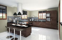 cuisine en L moderne: Cuisine de style de style Moderne par Concept d'intérieur
