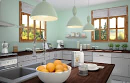 Cuisine en U: Cuisine de style de style Moderne par Concept d'intérieur