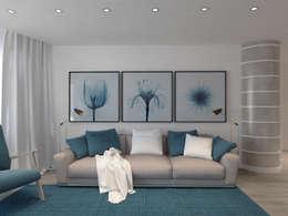 Salas / recibidores de estilo  por Kucherenko Design