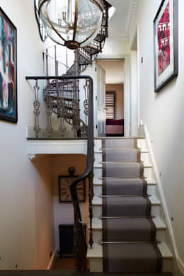 Fulham: modern Corridor, hallway & stairs by Interior Desires