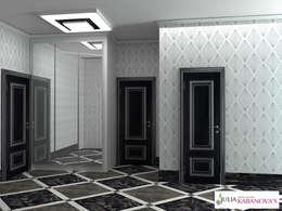 Projekty,  Korytarz, przedpokój zaprojektowane przez JULIA KABANOVA's DESIGN STUDIO