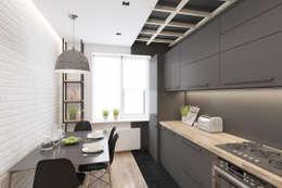 Cozinhas minimalistas por Ivantsov design studio