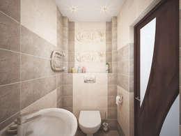 Дизайн проект дома - 2 этаж - 106,9 м2: Ванные комнаты в . Автор – Artstyle