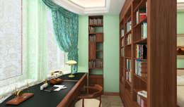рабочий кабинет в спальне: Спальни в . Автор – DEMARKA