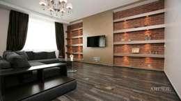 Квартира на Плющихе: Гостиная в . Автор – Дизайн-студия «ARTof3L»