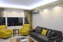 ACS Mimarlık – İzmir Mimkent'te Yeni Bir Yaşam Projesi: modern tarz Oturma Odası