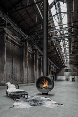 B.BLACK by boley: industriële Woonkamer door Boley