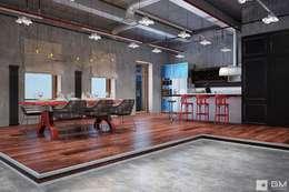 Salas / recibidores de estilo industrial por GM-interior
