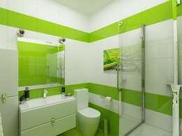 санузел: Ванные комнаты в . Автор – Дизайн студия Марины Геба