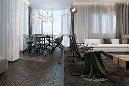 Projekty,  Salon zaprojektowane przez Виталий Юров