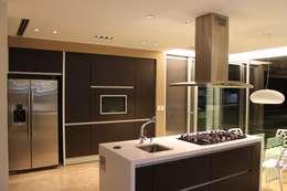 vivenda unifamilar MORENO: Cocinas de estilo moderno por cm espacio & arquitectura srl