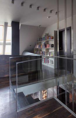 Dom w Pruszowicach : styl , w kategorii Korytarz, przedpokój zaprojektowany przez Jeżewska & Zakrawacz