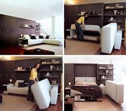 Salas de estilo moderno por lookingstudio