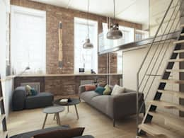 industrial Living room by The Goort