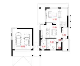 Projekty domów - House 10.2 : styl , w kategorii  zaprojektowany przez Majchrzak Pracownia Projektowa