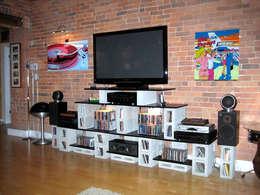 minimalistische Wohnzimmer von ENFOQUE CONSTRUCTIVO