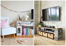 CENTROS DE ENTRETEMINIENTO: Salas de estilo minimalista por ENFOQUE CONSTRUCTIVO