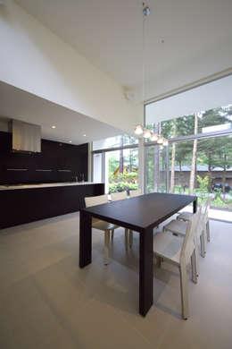 株式会社廣田悟建築設計事務所의  다이닝 룸