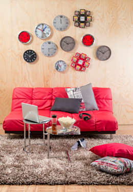 SALA DE DESCANSO: Sala multimedia de estilo  por Idea Interior