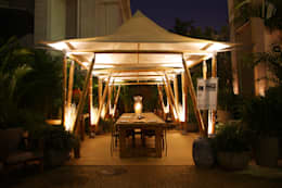 Jardines de estilo rústico por BAMBU CARBONO ZERO