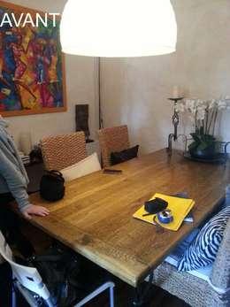 Alcôve avant travaux : deviendra séjour/salle à manger : Salon de style de style Colonial par Pauline VIDAL - Architecte d'Intérieur CFAI