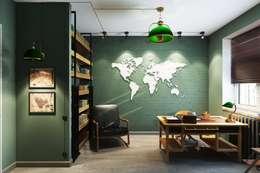 Oficinas de estilo industrial por Дизайн студия Алёны Чекалиной