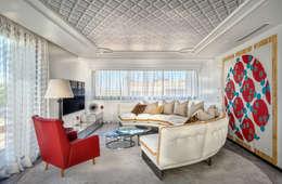 Salas de entretenimiento de estilo  por Viterbo Interior design