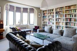 Projekty,  Salon zaprojektowane przez xsite architecture LLP