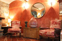 Salas de estilo rústico por Naro architettura restauro       'Dein Landhaus im Piemont'