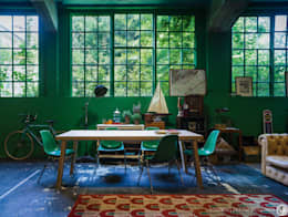 modern Dining room by ana roman
